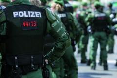 1 Mai Demo in NuernbergPolizei sichert eine NPD Demo ab01.05.2008Fotos: 10nach8 / Grundmann